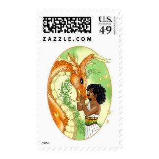Dragon and Princess Postage