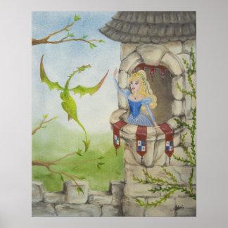 Dragon and Princess Poster