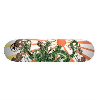 Dragon and Rising Sun Skateboard Deck