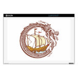 Dragon and Ship Skin For Laptop