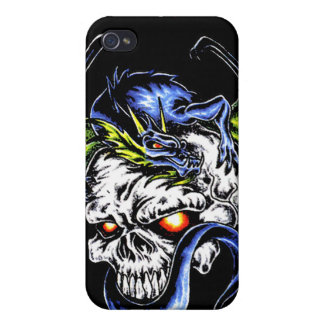 Dragon and Skull, Tat2 T's Iphone case Case For iPhone 4
