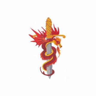Dragon and sword statuette
