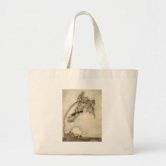 Dragon and the Princess Large Tote Bag