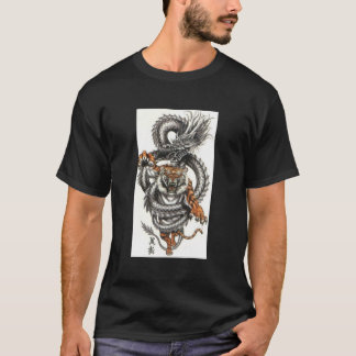 Dragon and Tiger design T-shirt