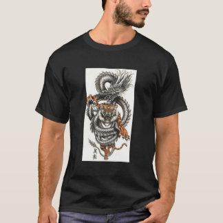 Dragon and Tiger design T-shirt