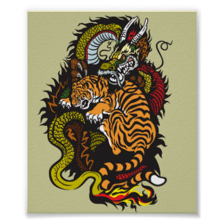 dragon and tiger fight poster