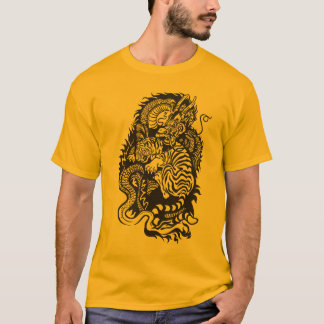 dragon and tiger fight T-Shirt