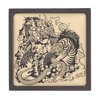 dragon and tiger fighting premium keepsake box