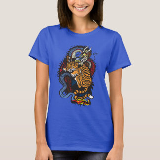 dragon and tiger fighting T-Shirt