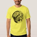 dragon and tiger yin and yand symbol t shirt