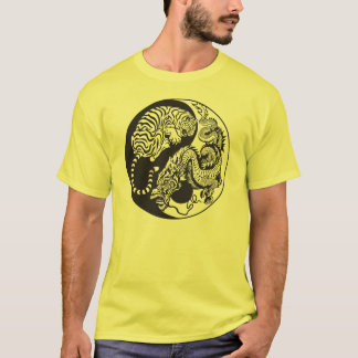 dragon and tiger yin and yand symbol T-Shirt