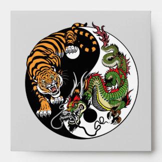 dragon and tiger yin yang envelope
