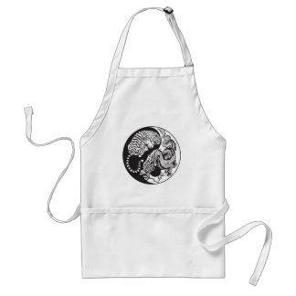 dragon and tiger yin yang symbol adult apron