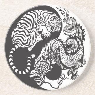 Yin Yang Dragon Tiger Drink & Beverage Coasters | Zazzle