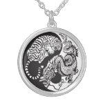 dragon and tiger yin yang symbol custom necklace