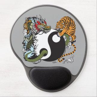dragon and tiger yin yang symbol gel mouse pad