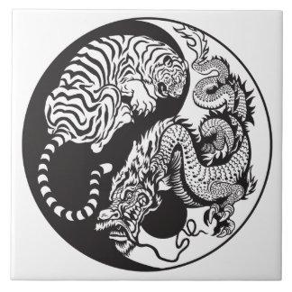 dragon and tiger yin yang symbol ceramic tiles