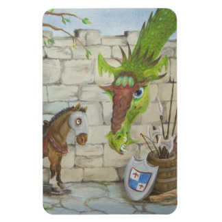 Dragon and War Horse Castle Magnet