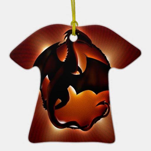 dragón animal abstracto storm.jpg adorno navideño de cerámica en forma de playera