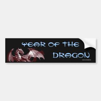 """Dragón """"año fantasía Bumpersticker del dragón"""" Pegatina Para Auto"""