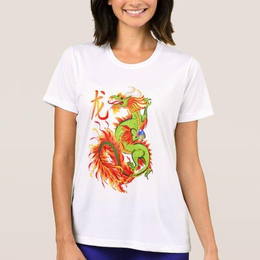 Dragón-Año llameante del camisetas del dragón Playera