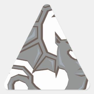 Dragón antiguo pegatina triangular