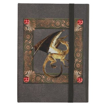 Dragon Antique Vintage Old Book Leather Case For iPad Air