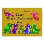 Dragon Appreciation Day January 16 Greeting Card