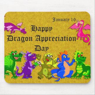Dragon Appreciation Day January 16 Mousepad