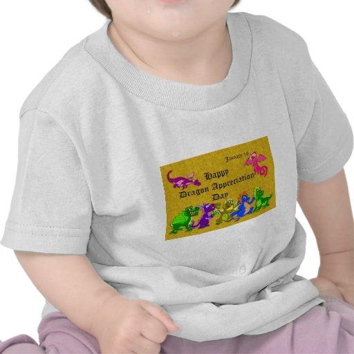 Dragón aprecio día 16 de enero camisetas