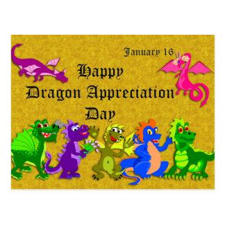 Dragón aprecio día 16 de enero postales
