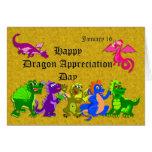Dragón aprecio día 16 de enero tarjetas