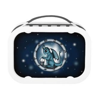 Dragon Aquarius Zodiac lunch box