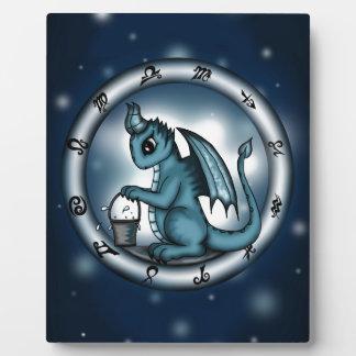 Dragon Aquarius Zodiac Plaque