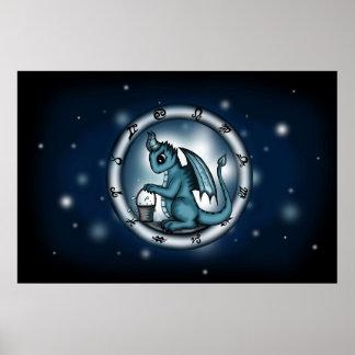 Dragon Aquarius Zodiac poster