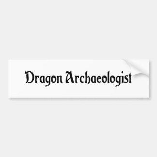 Dragon Archaeologist Bumper Sticker Car Bumper Sticker