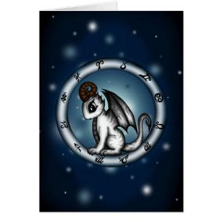Dragon Aries Zodiac Card