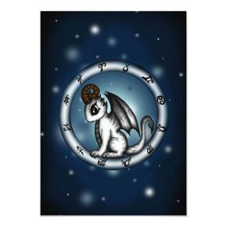 Dragon Aries Zodiac invitation