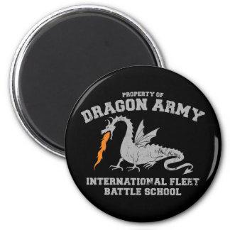 dragón army2 del ender imán redondo 5 cm