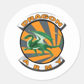 Dragon Army Classic Round Sticker