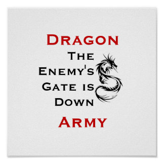 Dragon Army / Ender's Mantra Poster