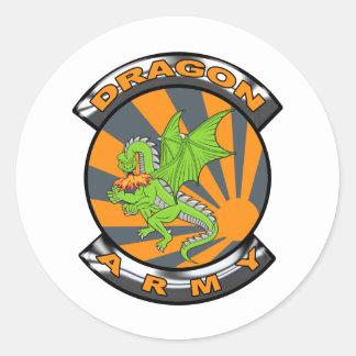 Dragon Army Gear Classic Round Sticker