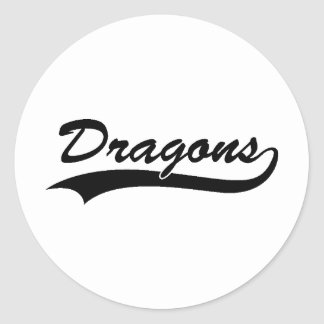 Dragon Art 3 Classic Round Sticker