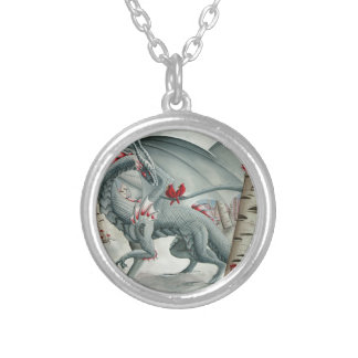 Dragon art, Fantasy art, Lady of the Forest Necklace