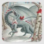 Dragon art, Fantasy art, Lady of the Forest Square Sticker
