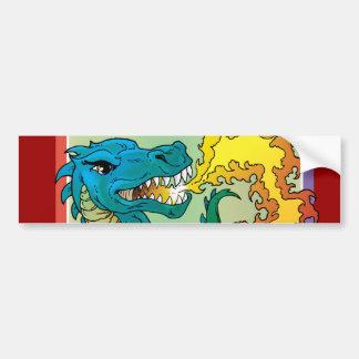 Dragon Art inspired by little t by Scott Rosema Bumper Sticker