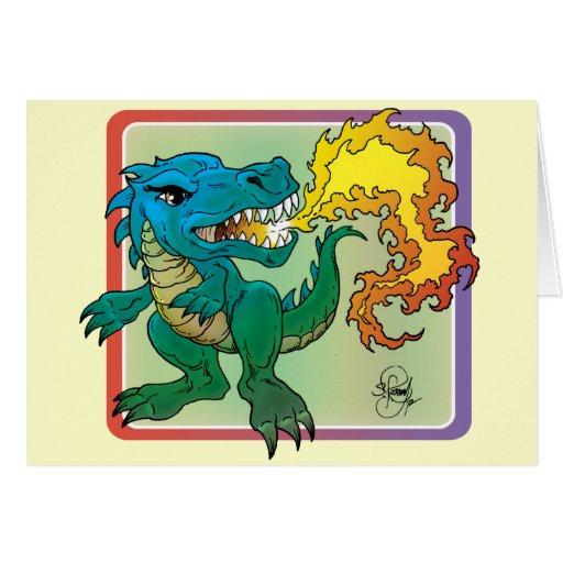 Dragon Art inspired by little t by Scott Rosema Card
