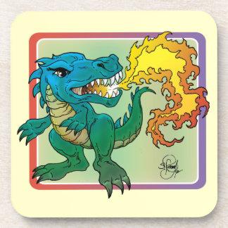 Dragon Art inspired by little t by Scott Rosema Drink Coaster