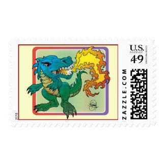 Dragon Art inspired by little t by Scott Rosema Postage