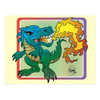 Dragon Art inspired by little t by Scott Rosema Postcard